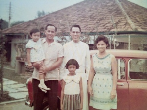 Father Gerald Tseng S.J. with my family in the sixties