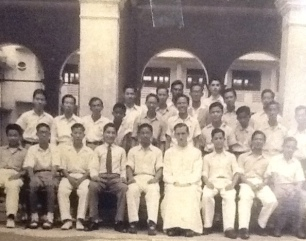 Class Photo SJI, 1948. Brother Ignatius and Uncle Mallen were his teachers